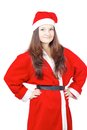 Free Pretty Young Girl Dressed As Santa Royalty Free Stock Photography - 27760577