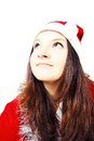 Free Portrait Of A Pretty Young Girl Dressed As Santa Royalty Free Stock Images - 27760839