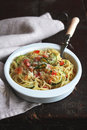Free Spaghetti With Vegetables And Parmesan Cheese Royalty Free Stock Photo - 27765145
