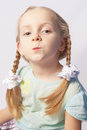 Free Portrait Of A Little Caucasian Fashionable Girl Stock Photography - 27768572