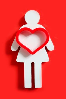 Free The Heart Of A Female Stock Images - 27760044