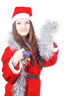 Free Portrait Of A Teen Girl Dressed As Santa Stock Photo - 27760770