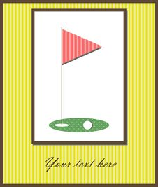 Free Golf Card Stock Images - 27762374