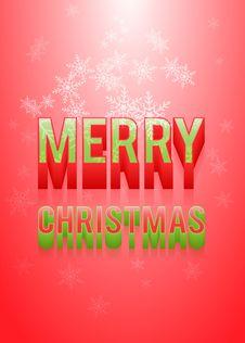 Free Merry Christmas Royalty Free Stock Photo - 27762395