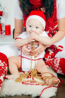 Free Boy In Santa S Cap Stock Photos - 27762783