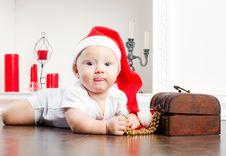 Free Child In Christmas Cap Stock Photos - 27762823