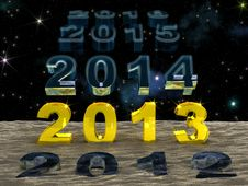 Free New Year 2013 Over The Sand Of Time Royalty Free Stock Photos - 27764938