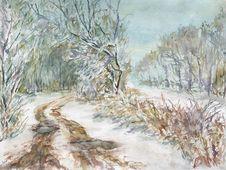 Free Winter Landscape Royalty Free Stock Photo - 27765955