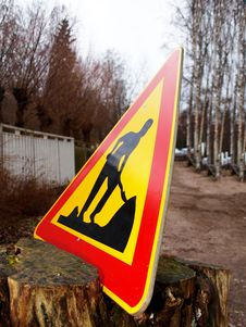 Free Warning Sign, Construction Stock Photos - 27766923