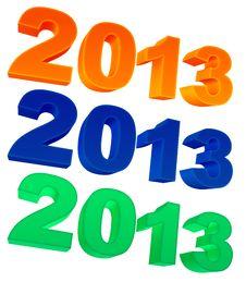 Free 2013 Year Stock Photo - 27768540