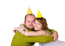 Free Happy Couple Celebrating A Holiday Stock Images - 27768924