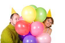 Free Happy Couple Celebrating A Holiday Royalty Free Stock Photos - 27768928