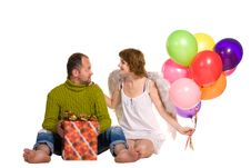 Free Happy Couple Celebrating A Holiday Stock Images - 27768954