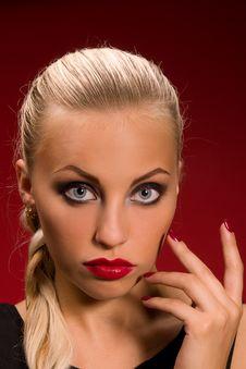 Free Girl With Aggressive Makeup Stock Photos - 27769263