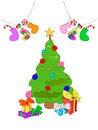 Free Cheerful Christmas Illustration Royalty Free Stock Photo - 27771205