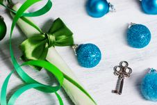 Free Christmas Decoration With Lollipop Stock Photography - 27770682