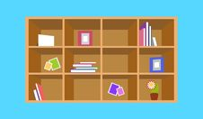 Free The Cozy Shelf With Books And Papers Stock Photography - 27771222