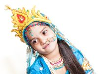 Free Indian Little Girl With Flute Stock Photos - 27771453