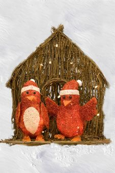 Free Penguins In Red For Christmas Royalty Free Stock Images - 27771579