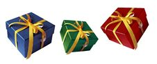 Free Three Colorful Gift Boxes Stock Images - 27773454