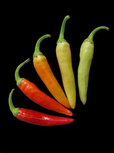 Free Red, Gran, Yellow Hot Chili Peppers Royalty Free Stock Images - 27774119