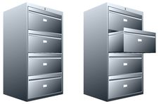Free Steel File Cabinet Royalty Free Stock Image - 27775766