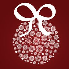 Free Xmas Ball Of Snowflake Stock Photo - 27779490