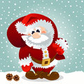 Free Santa Claus With Bag Stock Photography - 27787642