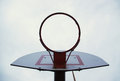 Free Basketball Backboard From Below Royalty Free Stock Image - 27789016