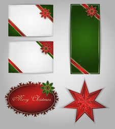 Free Christmas Cards. Vector Royalty Free Stock Images - 27780839