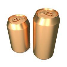 Free Aluminum Cans Isolated On White. Stock Image - 27781031