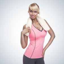 Free Fitness Woman Portrait Royalty Free Stock Image - 27781956