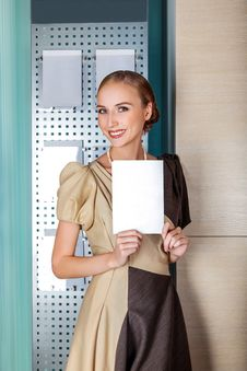 Free Smiling Businesswoman - Blank With Copy Space Stock Photography - 27782722