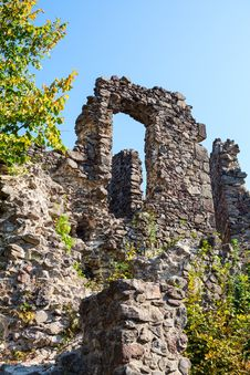 Wall Of An Old Castle Royalty Free Stock Photo