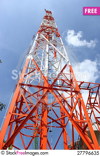 Free Antenna For Communication Royalty Free Stock Photo - 27796635