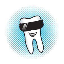 Free Joe Cool Tooth Royalty Free Stock Image - 27790476