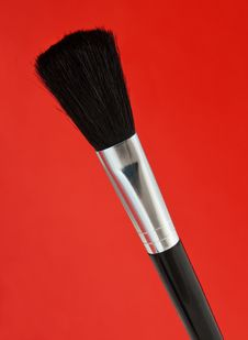 Free Large Make-up Brushes Royalty Free Stock Images - 27791849