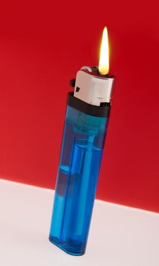Free Lit Cigarette Lighter Stock Photo - 27791860