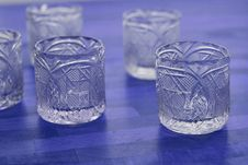 Free Crystal Vodka Glasses Stock Photo - 27794990