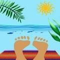 Free Beach Blanket Feet Royalty Free Stock Photo - 2781245