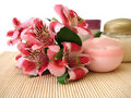 Free Cream With Flowers Royalty Free Stock Image - 2787416