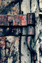Free An Ancient Rusty Hinged Door Stock Image - 2789571