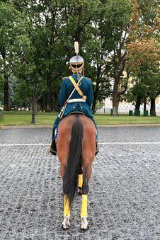 Cavalryman On Parade Royalty Free Stock Images