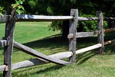 Free Broken Wooden Rail Fence Stock Photos - 2783293
