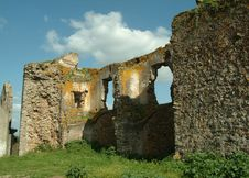 Ruins Old Castle In Portugal Royalty Free Stock Photo