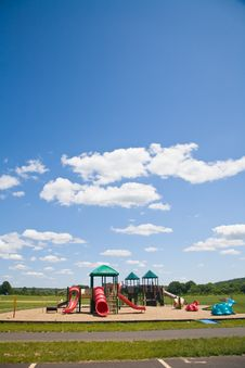 Free Playground In A Sunny Day Royalty Free Stock Photography - 2785577