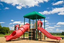 Free Playground In A Sunny Day Royalty Free Stock Photos - 2785628
