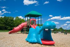 Free Playground In A Sunny Day Royalty Free Stock Photography - 2785637