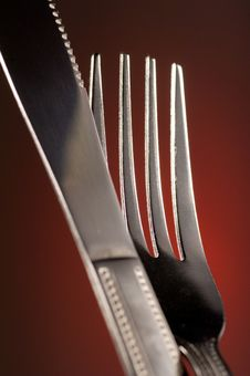 Free Knife And Fork Royalty Free Stock Photography - 2786967