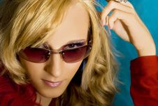 Free Blond Girl In Sun Glasses Stock Images - 2787014